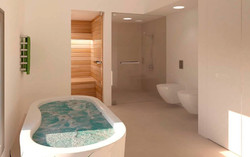 Infografia Baño master Suite