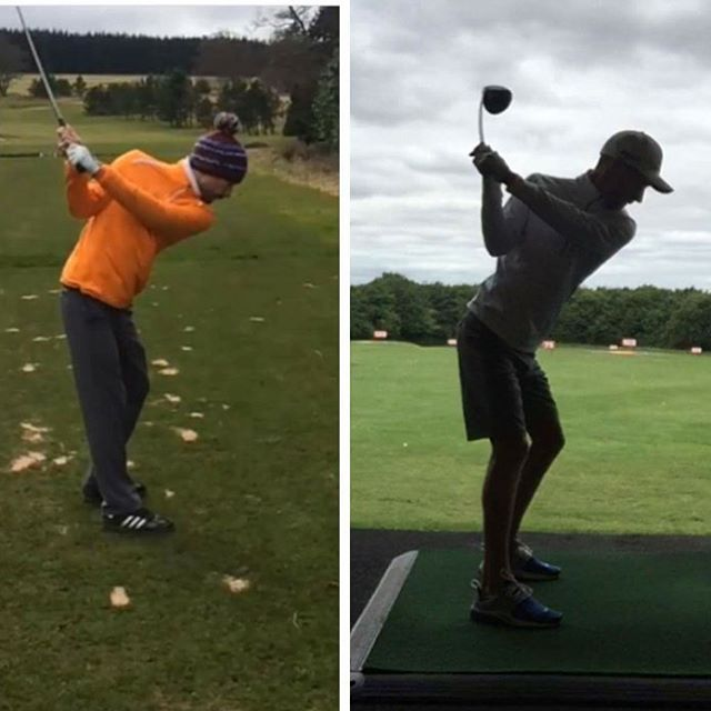 This Is One Of My Lessons Dan Wilson Showing Me Today Of His Changes In His Swing From Last Year To