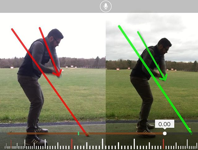 Great Lesson With David Today Working On Changing Attack Angle & Swing Path Resulting In A Better Cl