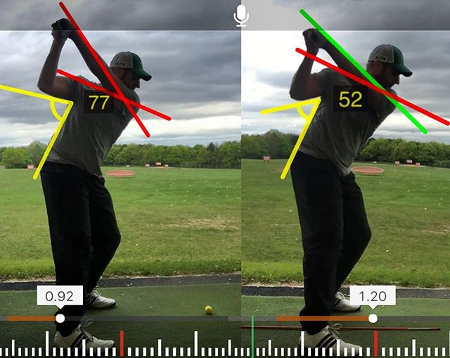 Here We Have Gavin Who Struggled From A Very Steep Angle Of Attack From An Over The Top Movement Cau