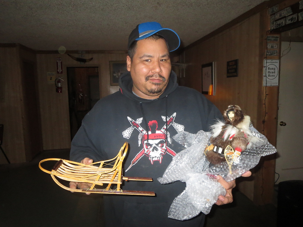 PAtrick with his newly won male  Ellen Savage doll.