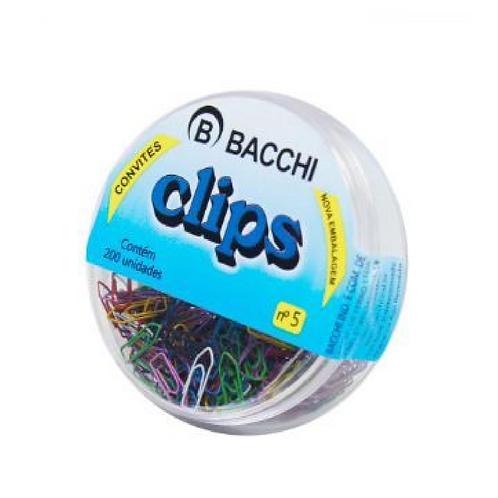 CLIPS COLORIDO N 5 C 200 BACCHI
