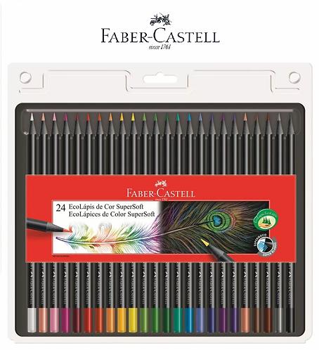 LAPIS COR FABER-CASTELL SUPERSOFT 24 CORES