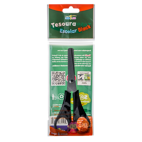 TESOURA ESCOLAR LEONORA BLACK