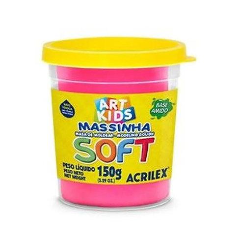 MASSA DE MODELAR SOFT ACRILEX 150G ROSA MARAVILHA 107