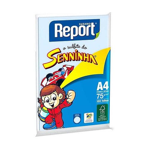 PAPEL REPORT SENINHA COLOR A4 C 100 AZUL