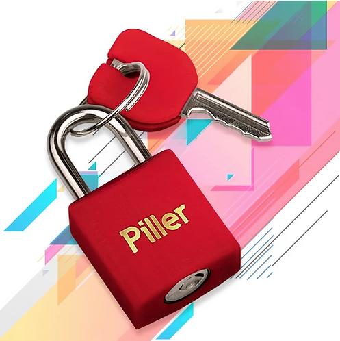 Cadeado Piller 20mm -Vermelho