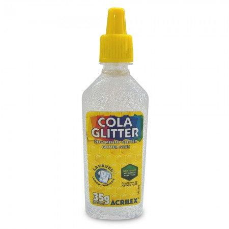 COLA GLITTER 35G ACRILEX 209 CRISTAL