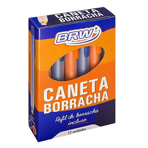 CANETA BORRACHA BRW CX C/12