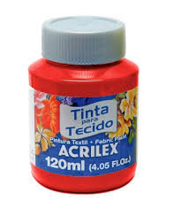 TINTA TECIDO ACRILEX 120ML 507 VM FOGO