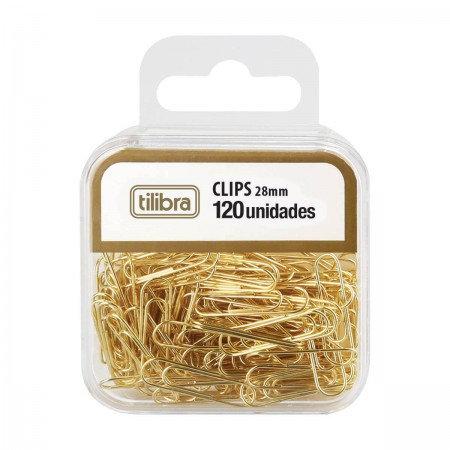 CLIPS DOURADO TILIBRA 28MM C/120