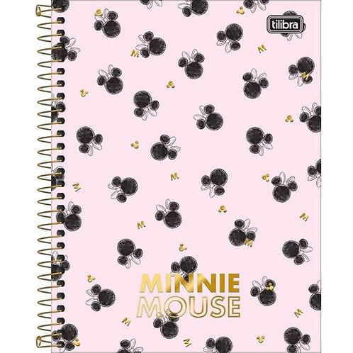 Caderno Colegial Minnie Mouse 10 Matérias Tilibra
