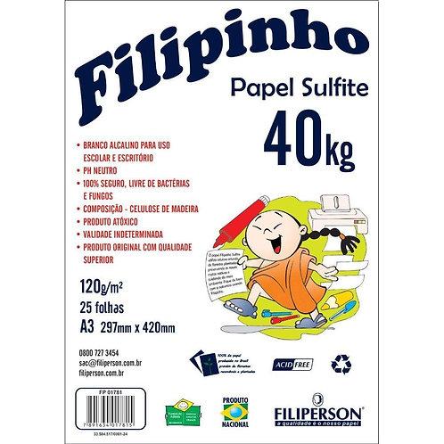 PAPEL FILIPAPER SULFITE 40K 120GR C/50FL