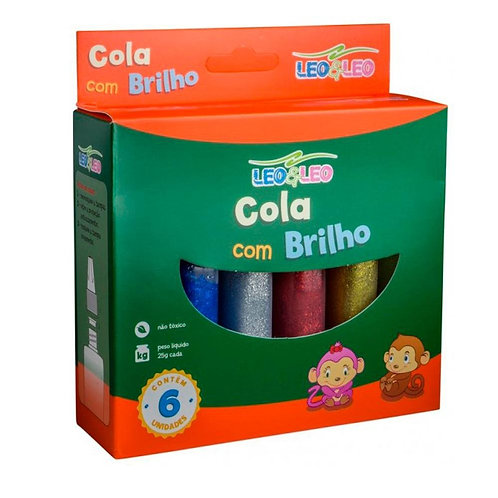 COLA GLITTER 25GR BRW C 6 CORES