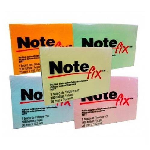 Bloco Adesivo NoteFix  76mm X 102 mm 100 Folhas
