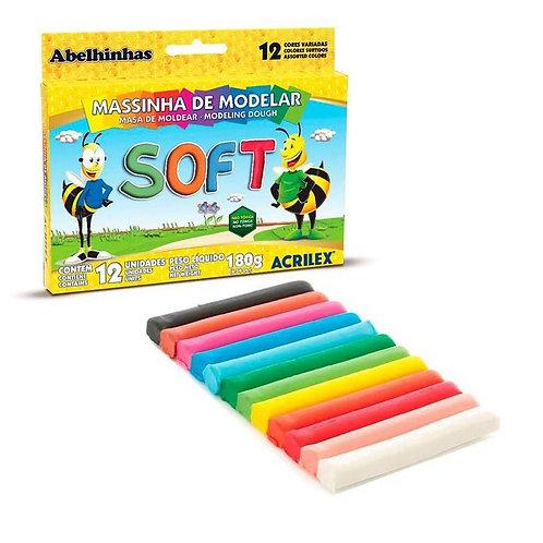 MASSA DE MODELAR ACRILEX SOFT C 12