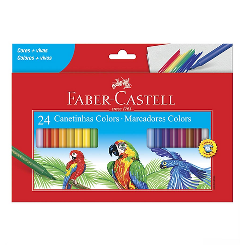 CANETA HIDROCOR FABER-CASTELL 24 CORES