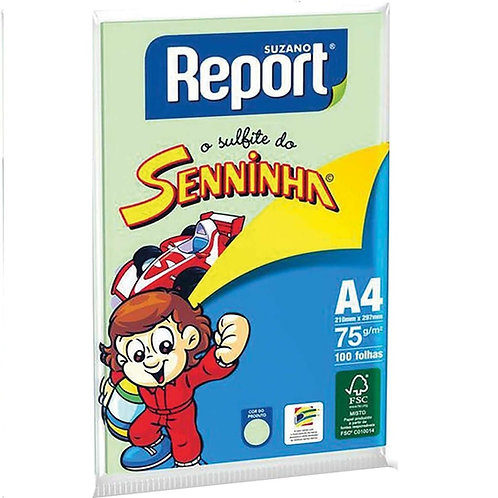PAPEL REPORT SENINHA COLOR A4 C 100 VERDE