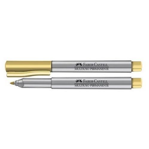Marcador Multiuso Permanente  Faber-Castell  Dourado ponta 1.0mm