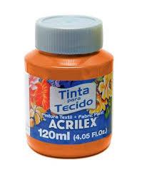TINTA TECIDO ACRILEX 120ML 517 LARANJA