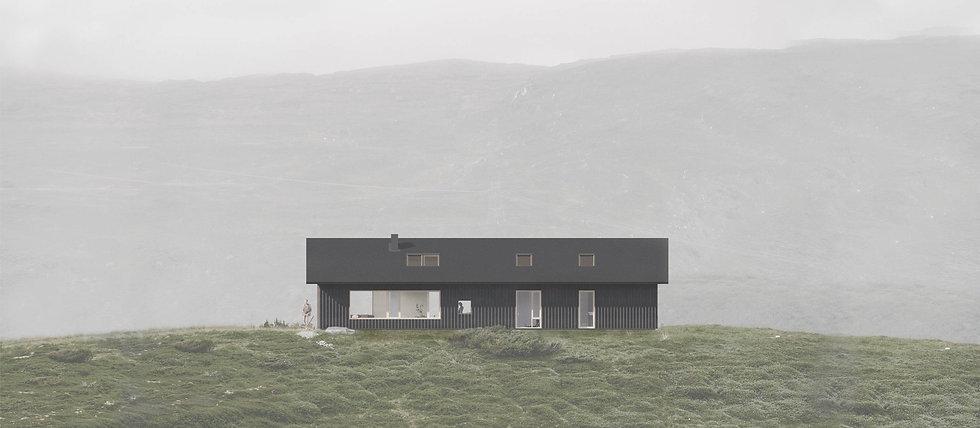 Arkitekttegnet bolig - trebygg med moderne fasade