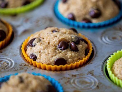Chocolate Chip Protein Banana Muffins