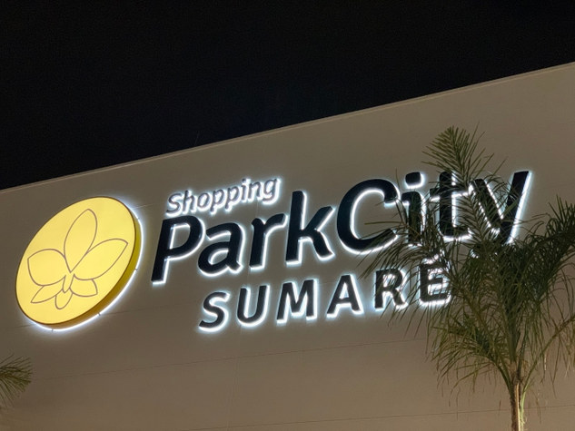 Letras caixas Luminosas shopping Park City
