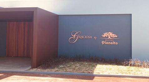 letreiro em cobre luminoso | Buffet Planalto