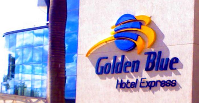 Letreiro em Relevo Hotel Golden Blue