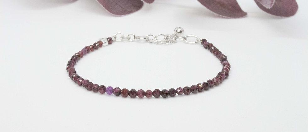 Bracelet | Grenats bordeaux