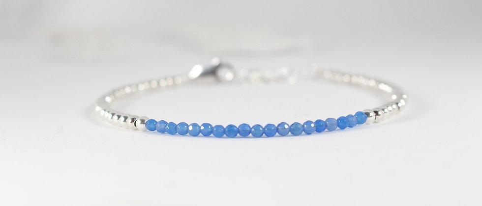 Argent & Agate bleue