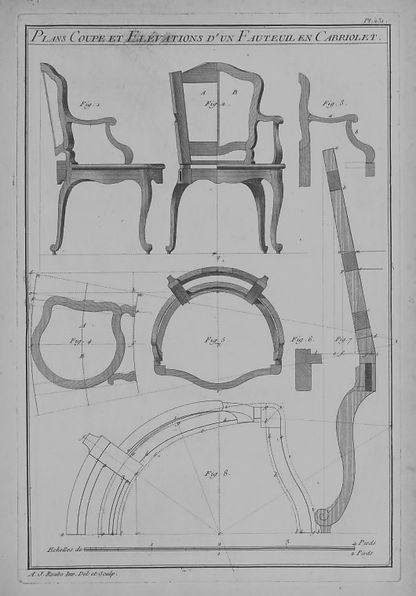 philip burrows plans for a antiquefrench chair
