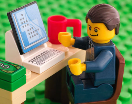 LEGO minifig on computer