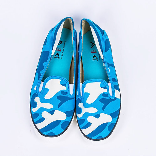 DEV : Kanako, Fashion Slip on - Camouflage Blue