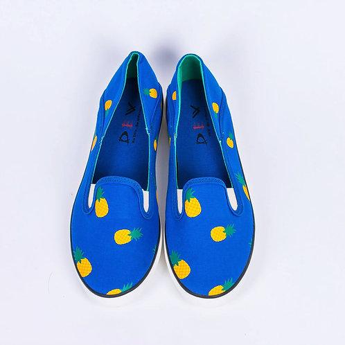 DEV : Kanako, Fashion Slip on - Pineapple Blue