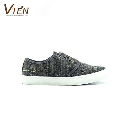 VTEN : Sam-Roi-Yot The Classic Sneakers - Thai Woven Stripe Grey
