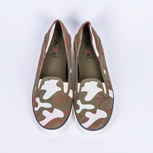DEV : Kanako, Fashion Slip on - Camouflage Brown