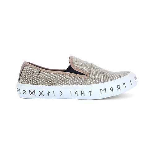 VTEN :Phu-Rua The Classic Slip On Shoes -Light Brown