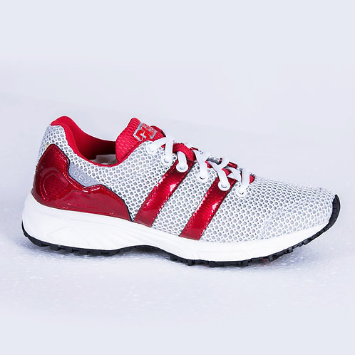 DEV : Long Beach Casual Sneakers - White/Red