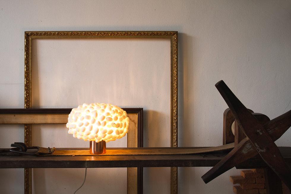 Unique silk cocoon table light fr