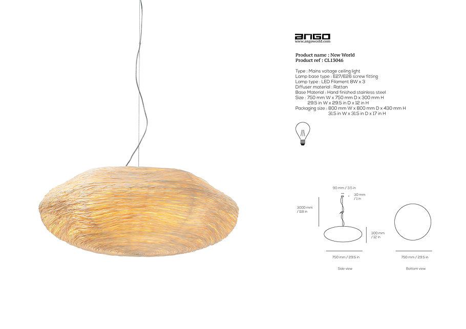 Beautiful Eco lighting using rattan