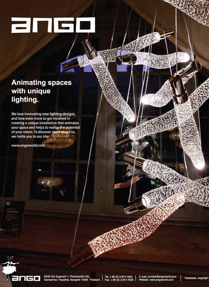 Customised lighting created by Ango Lighting