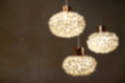 Handcrafted silk cocoon ceiling light by Ango