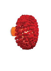 Unique silk cocoon in red colour wall light