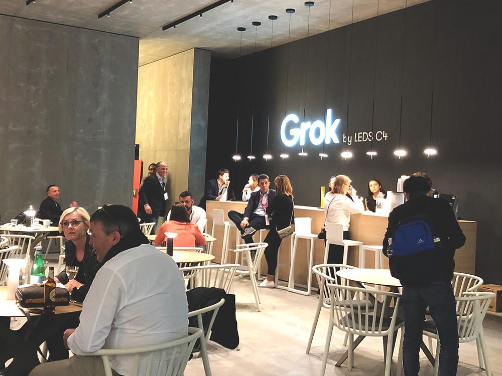 โคมไฟจากสเปน Grok Lighting ในงาน Euroluce 2019