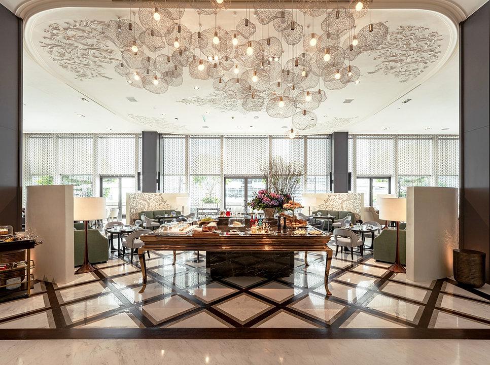 Custom pendant light at Rosewood Hotel Bangkok.jpg