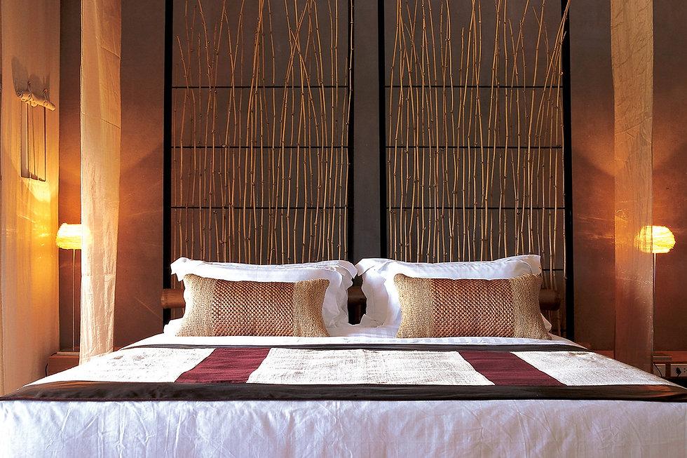 rattan table light for resort