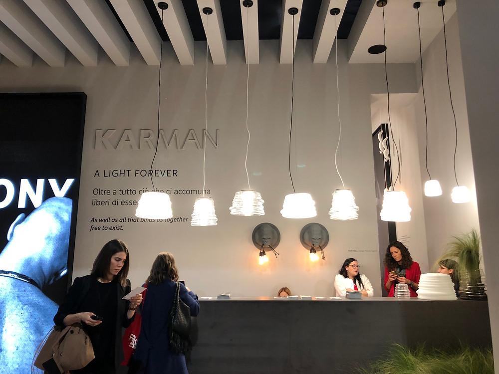 โคมไฟอิตาเลียน Karman ในงาน Euroluce 2019