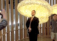 Handcrafted silkcocoon lighting created for Gwangju Exhitibion