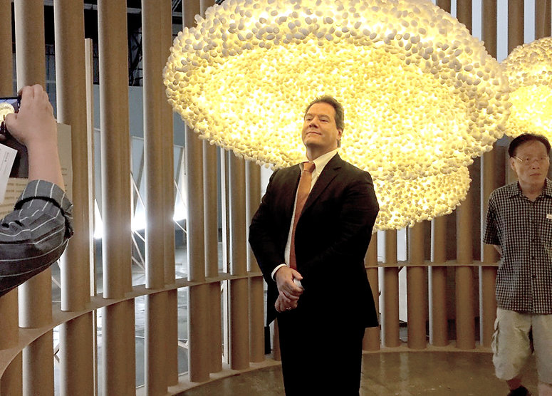 โคมไฟในนิทรรศการ Gwangju Design Biennale